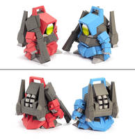 K paper soul WXY Pipi new practice hands 5CM SD GUNDAM VER4.0 up to paper model DIY free cutting