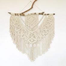 北欧风手工制作INS 送视频 Macrame手工编织挂毯 DIY材料包 涟漪