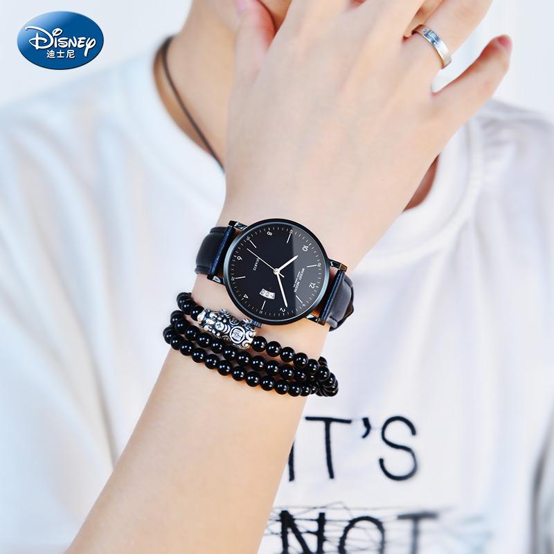 迪士尼学生手表男孩初中高中潮流韩版个性防水中学生青少年手表男