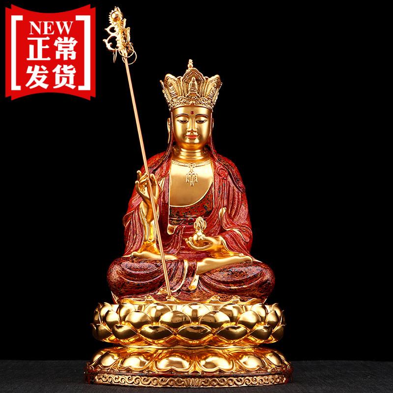地藏王佛像铜雕供奉摆件
