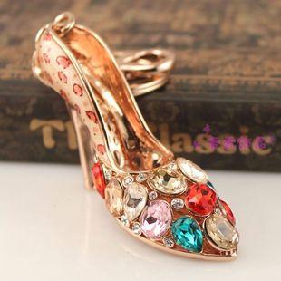 威妮华韩国女士创意奢华水晶高跟鞋汽车钥匙扣钥匙链包扣挂件创意