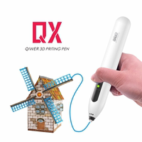 QX low temperature 3D printing pen wireless charging children stereo graffiti painting pen gift vibrato multi-function intelligent three