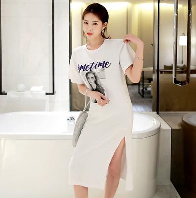 夏季女装新款 韩国官网正品代购Ssumparty时尚字母欧美图像连衣裙