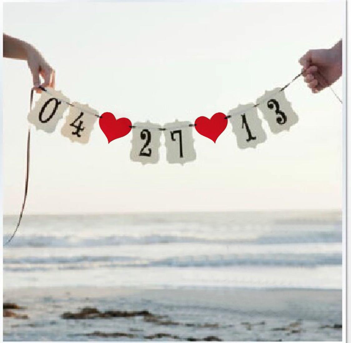 婚礼字母旗
