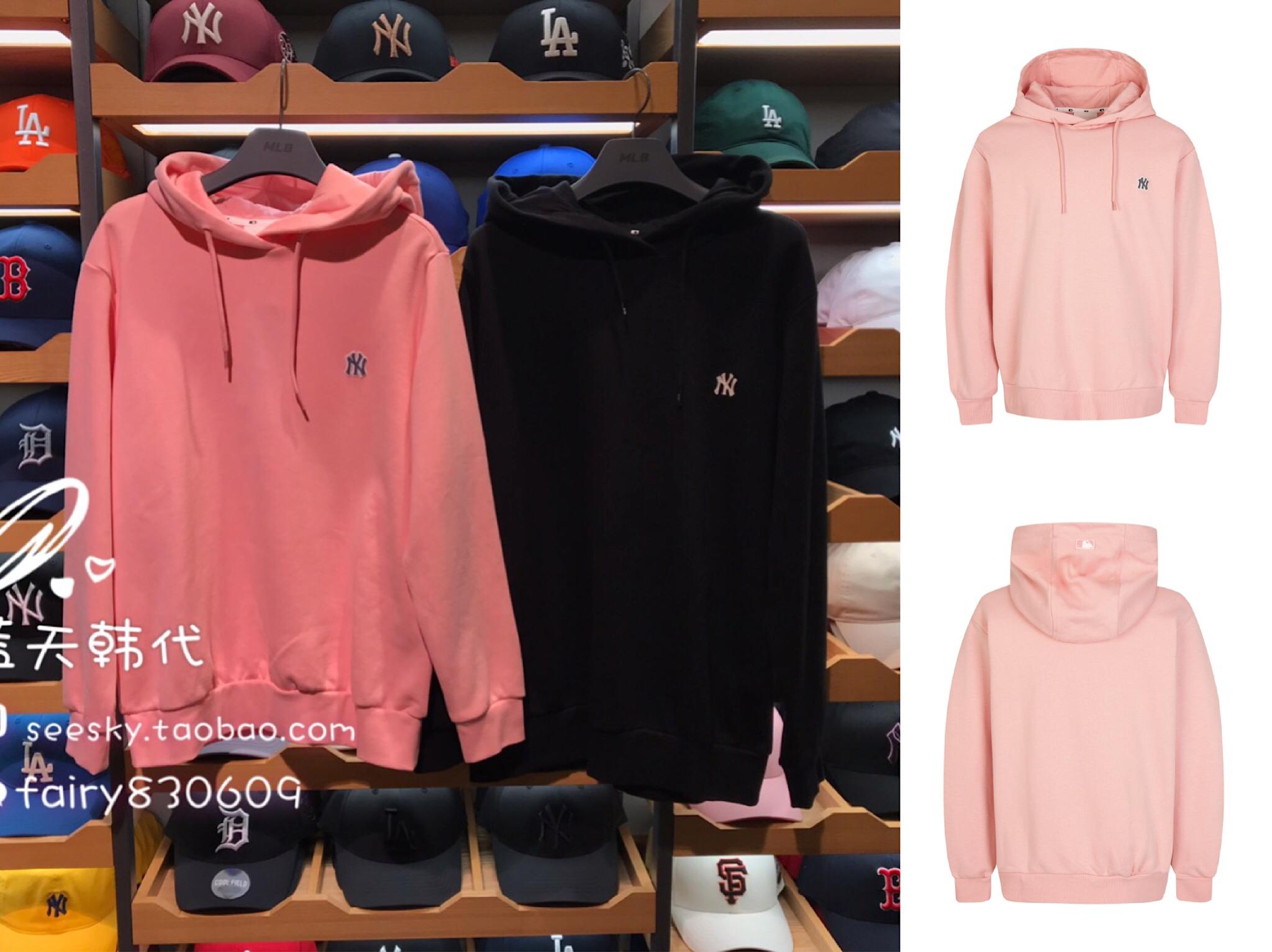 MLB 韩国代购 HD02941 NY洋基队 贴布小标 男女连帽休闲卫衣 多色