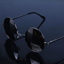 时尚 复古圆形眼镜太子矩镜圆框太阳镜上海滩老板矩信同款 墨镜