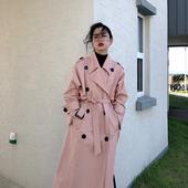 [MICHELLY.MO]中长款风衣女气质外套经典流行小个子waitmore风衣