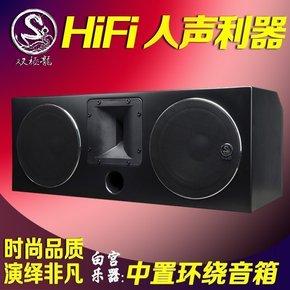 臺灣雙極龍 ESP-801C家庭影院中置音箱號角高音+大尺寸中低音單元