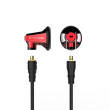 PT15石墨烯单元平头耳机可换线带麦重低音diy耳塞式手机音乐通用