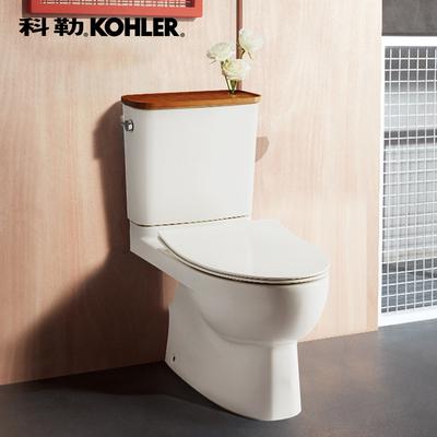 科勒马桶 瑞琦家用座厕五级旋风静音缓降智纳版分体座便器18643打折促销