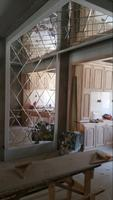 Customized living room walls Customized glass shelf partitions Acacia shelf partitions can be customized