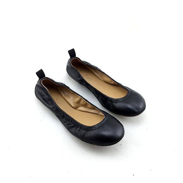 橡胶底纯色船鞋