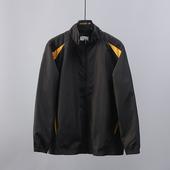 51SHOP男装 出口德国男士户外休闲翻领夹克长袖拼接春秋款外套