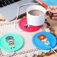 Cartoon creative insert silicone insulation cup mat heating coaster constant temperature heating cup hot milk warm cup warmer
