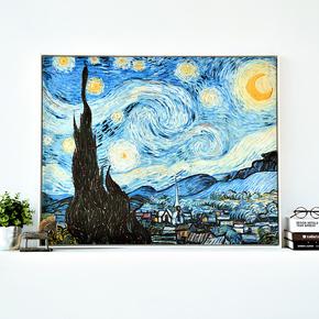 仟象映画 星空梵高现代抽象油画 欧式简约客厅玄关装饰画壁画挂画