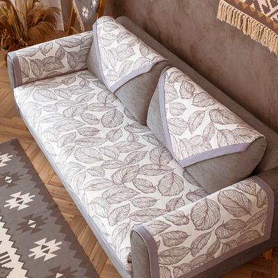 北欧风格沙发垫双面两用简约现代洋气灰色沙发罩巾棉麻耐脏沙发套