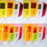 正品 LCD灯挂表 钥匙挂扣表电子表 数字显示 夜光 考试备用 小巧