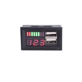 12V转5v降压模块双usb车载电源 汽车电瓶电池电压电量显示器表头