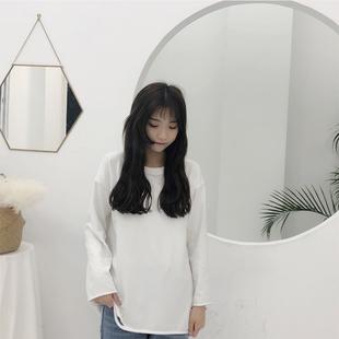 路怡的店 LY恋物志白色纯色破洞打底上衣同款加厚秋衣包邮