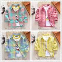 宝宝纯棉长袖衬衫薄款春秋儿童衬衫男童衬衣外套婴儿空调防晒衣夏