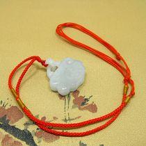 玉器岫岩玉石挂坠岫玉玫瑰花项坠玉坠天然玉石挂件吊坠
