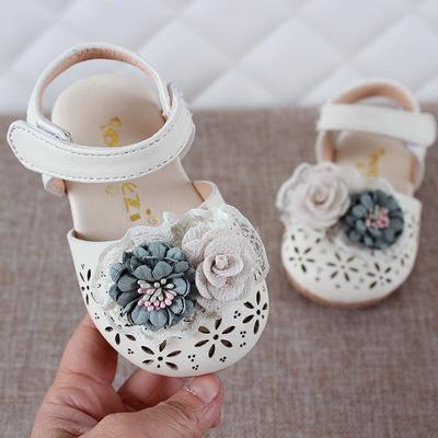 2019夏儿童鞋子0-4岁婴幼儿宝宝防踢滑包头凉鞋女宝宝学步公主鞋