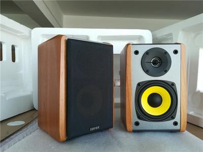 Edifier/漫步者 R1000TC北美版2.0有源木质音响电脑投影机音箱
