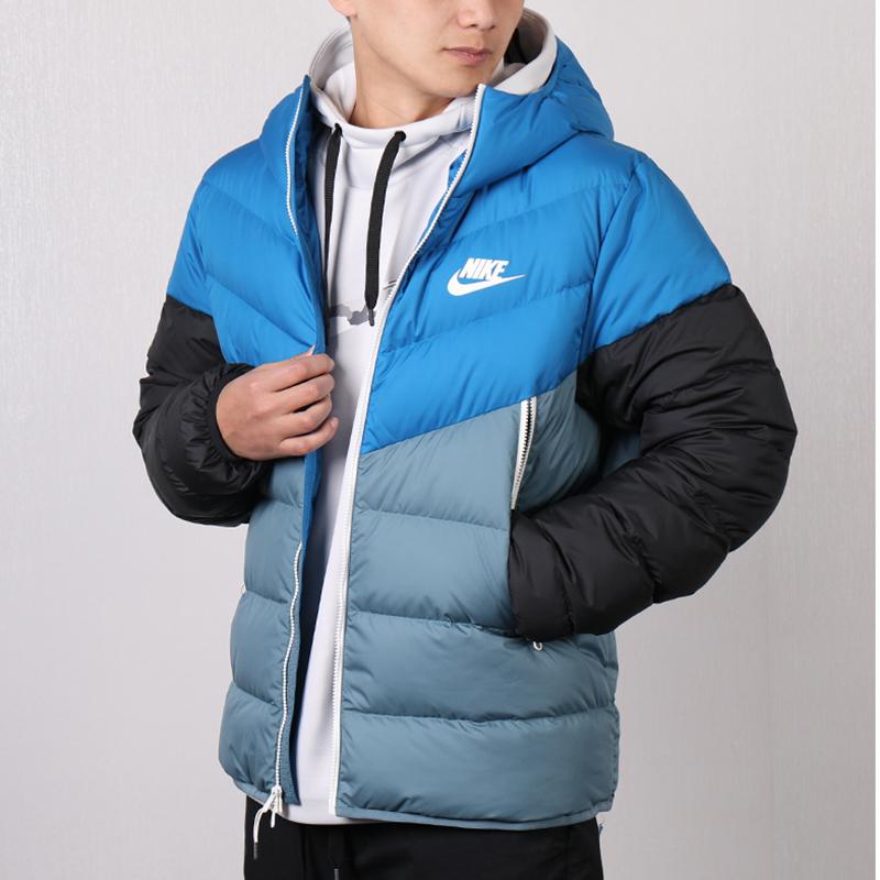 Nike耐克男装2019冬新款运动服休闲保暖连帽羽绒服外套928834-486