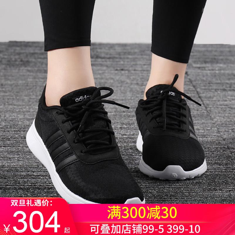 阿迪达斯女鞋2019冬季新款Neo运动鞋透气休闲鞋轻便跑步鞋F34664