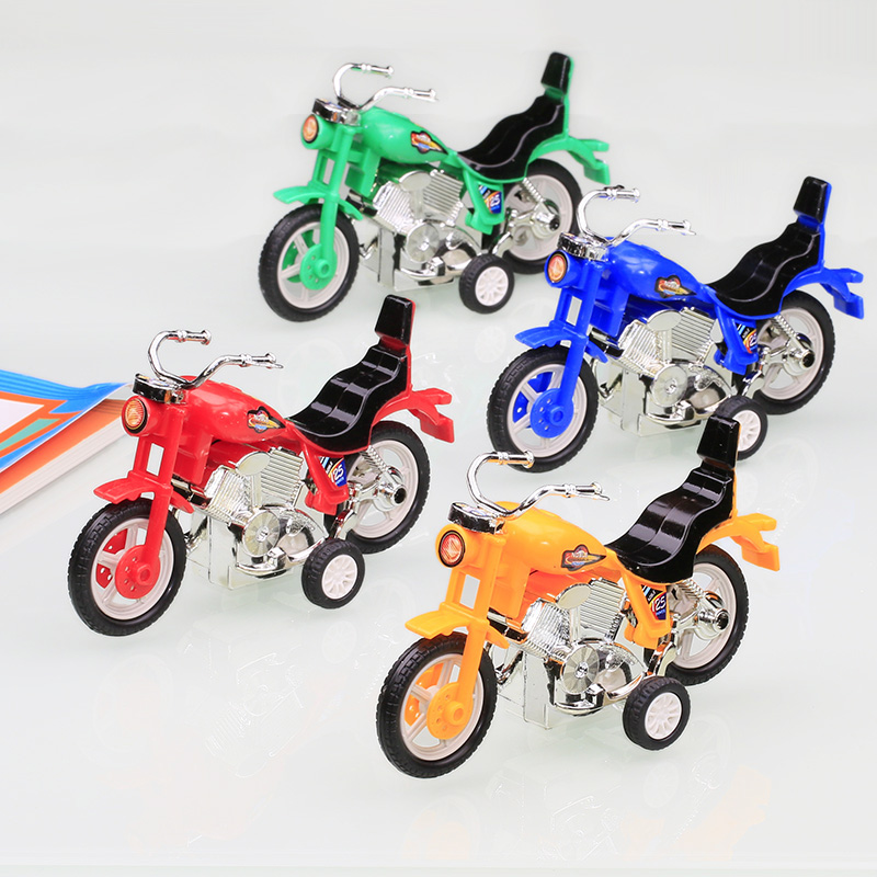 Children's Toy Boy Toy Car Clockwork Pull Back Motorcycle Kindergarten Small Prize Event