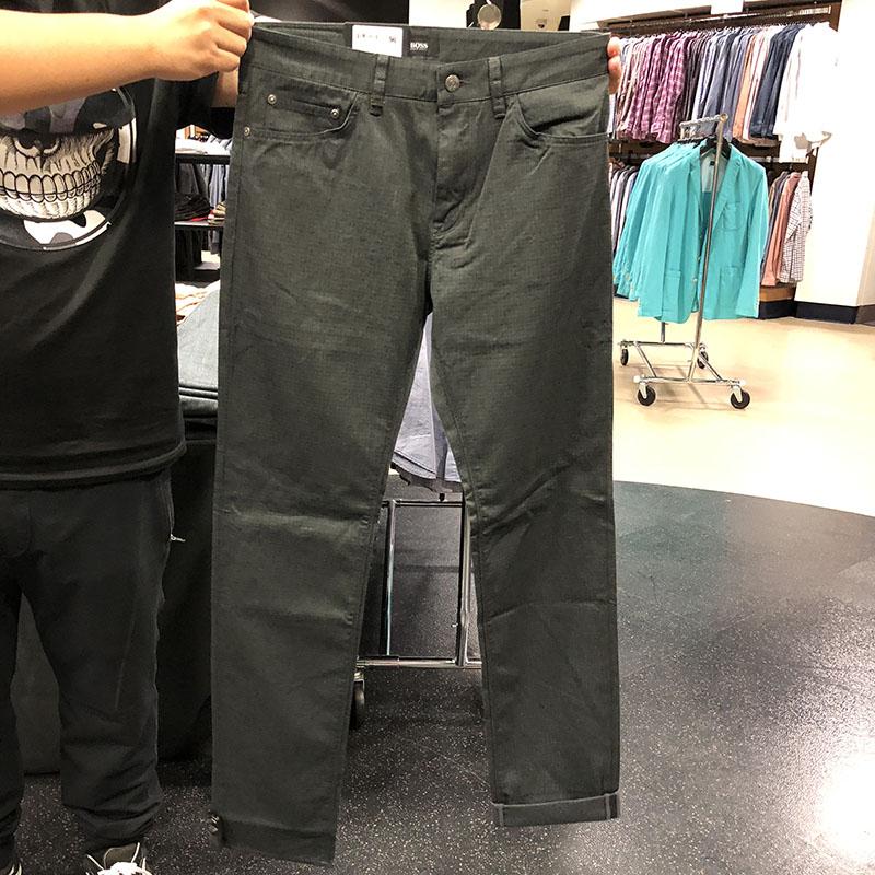 19年新款 Hugo Boss 男士绿标 REGULAR FIT 牛仔裤50371885