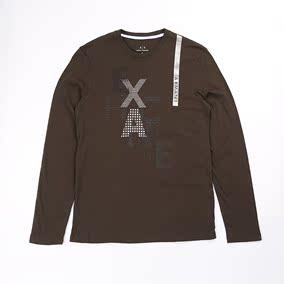 纽约大宝 Armani Exchange/阿玛尼AX 男士春季圆领长袖T恤