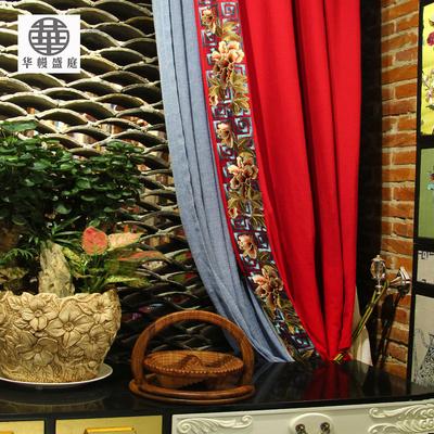 中式窗帘布料古典618大促