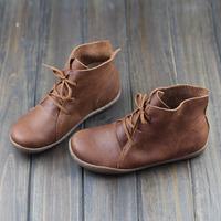 森女系春秋短靴