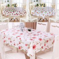 Home Pavilion PVC tablecloth waterproof anti-scalding oil-proof disposable tablecloth round table tablecloth rectangular coffee table cloth