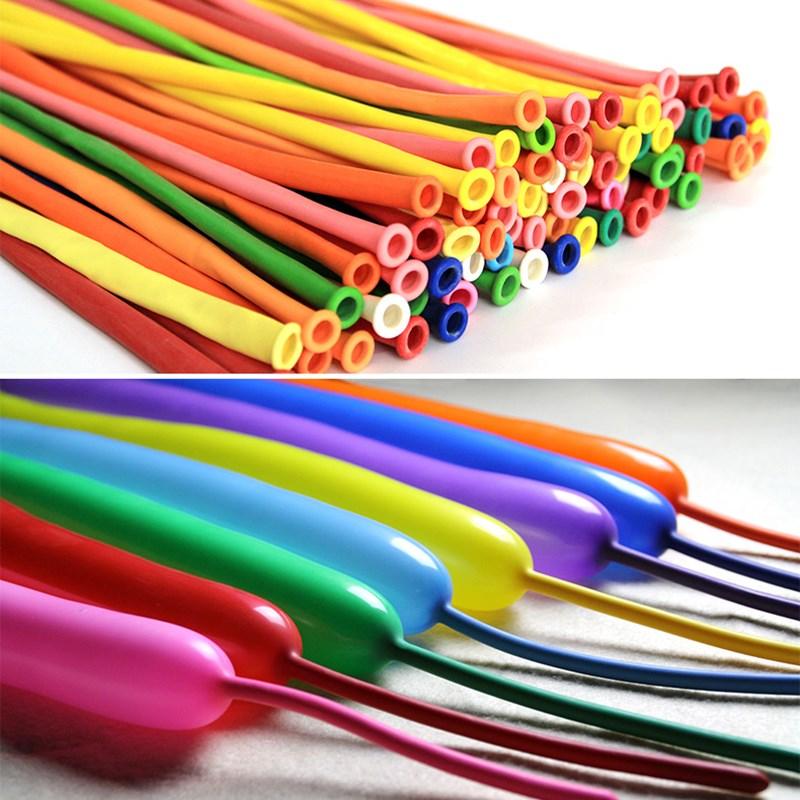 长条魔术气球100个装儿童玩具生日派对装饰用品魔法DIY造型加厚