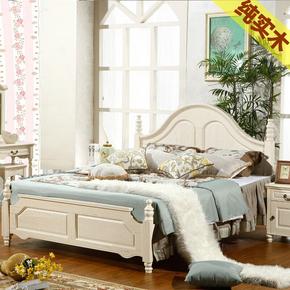 地中海全实木床简欧风格现代简美家具欧式田园双人1米8小美式主卧
