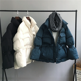 2018冬季新款韩版宽松短款羽绒棉棉衣女面包服学生加厚棉服外套