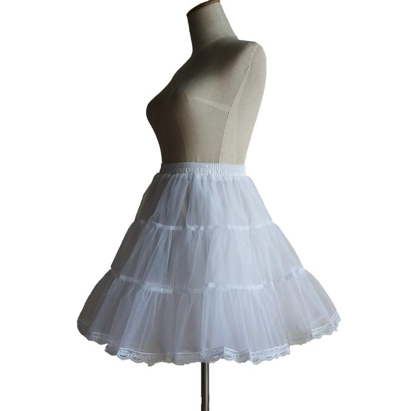 礼服软纱无骨裙撑日常短款Petticoat裙撑cos女仆装lolita衬裙45cm