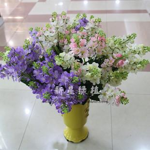 家居热卖仿真紫罗兰紫丁香插花装饰薰衣草勿忘我家居客厅装饰花艺