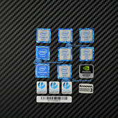 标贴 Intel酷睿六代CPU 显卡贴纸机箱LOGO 电脑性能标识
