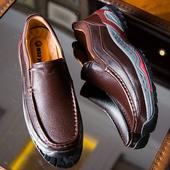中年爸爸鞋 特大码 勃乐真皮商务男鞋 50岁显年轻增高厚底鞋