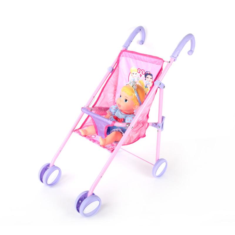 disney迪士尼正版仙蒂公主宝宝与手推车套装学步手推车儿童节礼物