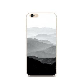 8代X简约中性山峦iphone6splus苹果7代软壳小米5x红米note4手机壳