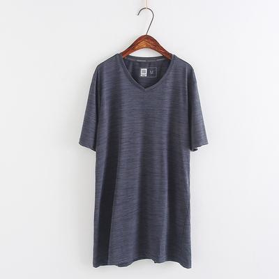速干T恤 男短袖夏季跑步运动大码半袖V领上衣 户外体恤N/8-4