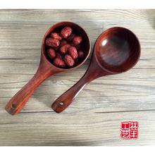 日式量米木勺 天然厨房木餐具 出口日本创意木水瓢酒瓢大木汤勺