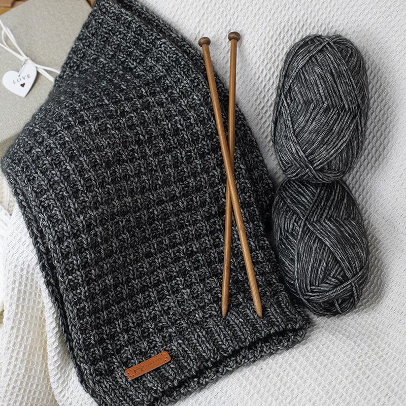 送男友小熊手环生日礼物的柔软围巾粗毛线团纯手工编织diy材料包