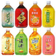 包邮 12瓶水蜜桃鲜果橙冰红茶绿茶茉莉蜜茶清茶 康师傅饮料整箱1L