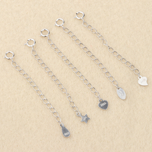 925 Silver Extension Chain DIY Accessory Chain Wearing Bracelet Necklace Material Zero Pure Silver Tail Chain Adjusting Chain Pure Silver