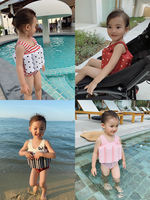 Chen Chen Ma children's one-piece swimsuit 2019 summer new girls baby buoyancy floating vest swimsuit swimsuit